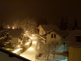 Night with snow — Stock Photo