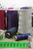 Spools of thread — Stock Photo
