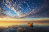 Alone boat — Stock Photo