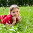 Portrait of a    girl in park — Stock Photo #50507993