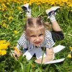 Happy Girl in summer Garden. — Stock Photo #51707349