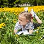Happy Girl in summer Garden. — Stock Photo #51707365