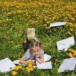 Happy Girl in summer Garden. — Stock Photo #51707393