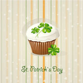 St. Patrick's Day background with cake-EPS10 — Stock Vector