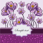 Floral background with crocuses-EPS10 — Stock Vector