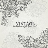 Vintage background with flowers dahlias for your text-EPS10 — Stok Vektör