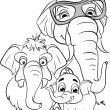 Family of elephants — Stock Vector #50443579