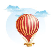 Balloon in a strip in the clouds — Stockvektor
