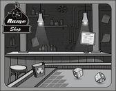 Cowboy bar craps — Stock Vector