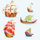 Historical ships — Stock Vector