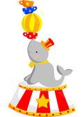 Circus Seal — Stock Vector