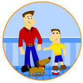 Father and Son — Stock Vector