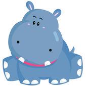 Hippopotamus Cartoon — Stock Vector