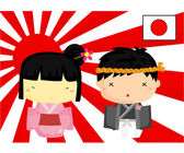 Japan Culture and Flag — Stock Vector