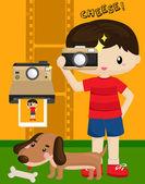 Kid Photographer — Stock Vector