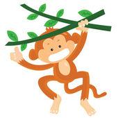 Monkey — Stockvektor