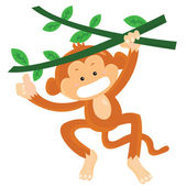 猴子 — 图库矢量图片