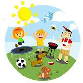 Outdoor Activities — Stock Vector