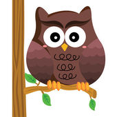The Owl — Stock Vector
