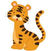 Tigre mignon — Vecteur