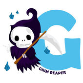 G for Grim Reaper — ストックベクタ