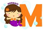 M for Mermaid — Stock Vector