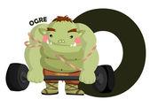 O for Ogre — Vector de stock