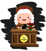 Cute Judge Vector — Stock Vector