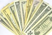 Set of dollars of all values isolated — Stock Photo