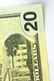 The twenty dollars isolated on white background  — Stock Photo