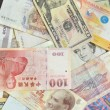 Assorted international paper money close up — Stock Photo #51530949