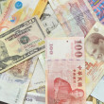 Assorted international paper money close up  — Stock Photo #51531439