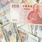 Assorted international paper money close up  — Stock Photo #51531735