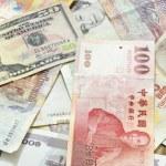 Assorted international paper money close up  — Stock Photo #51531857