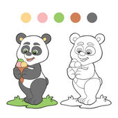 Coloring book (panda) — Stock Vector