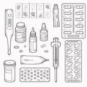 Set of vector elements (medicine) — Vetorial Stock