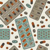 Naadloze patroon (geneeskunde) — Stockvector