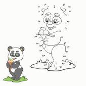 Gra liczb (panda) — Wektor stockowy
