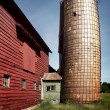 Old barn with leaning silo — Stock Photo #50987401
