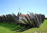 Exterior Fence at Fort Ticonderoga, New York — Stock Photo