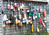 Wall of Lobster Buoys — Stock Photo
