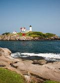 Nubble Lighthouse — Stock Photo