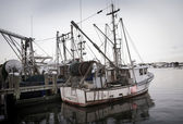 Fishing boats at rest in Hyannisport Harbor, MA — Stock Photo
