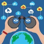Binoculars — Stock Vector