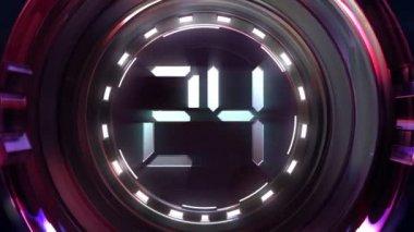 Countdown-ball — Stockvideo
