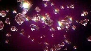 Falling diamonds — Stock Video