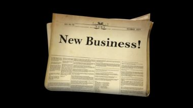 Cinco periódicos y canal alfa — Vídeo de stock