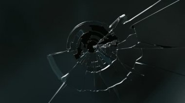 Broken glass — Stock Video