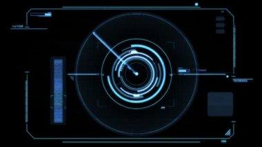 Futuristic viewfinder — Stock Video