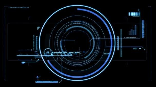 Visor de alta tecnología — Vídeo de stock